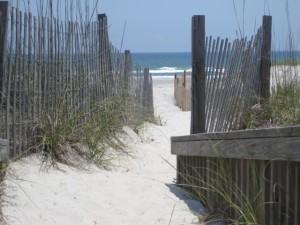 Sand dunes at Carolina Beach, NC