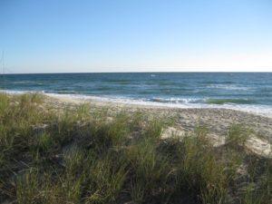 sandy beach in Ocean City Maryland